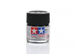 Tamiya XF-1 Flat Black Mini Acrylic Paint (10ml)