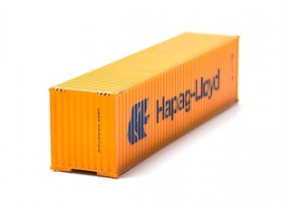 HO Scale 40ft Shipping Container (Hapag-Lloyd) front view