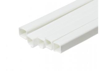 ABS Square Tube 5.0mm x 5.0mm x 500mm White (Qty 5)