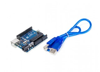 Kingduino-R3-Atmel-ATmega328-cable