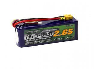 Turnigy nano-tech 2650mah 6S 45~90C Lipo Pack w/XT-60
