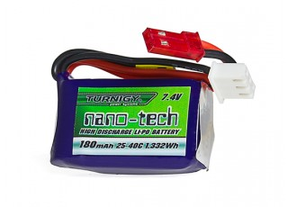 Turnigy nano-tech 180mAh 2S 25~40C Lipo Pack