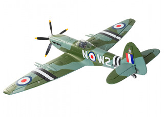 "Durafly™ Supermarine Spitfire Mk24 V2 with Retracts/Flaps/Nav Lights ESC 1100mm (43"") (PNF) - rear flying"