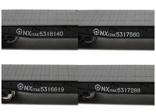 NX17K Flat Car (HO Scale - 4 Pack) Set 3 Lettering detail