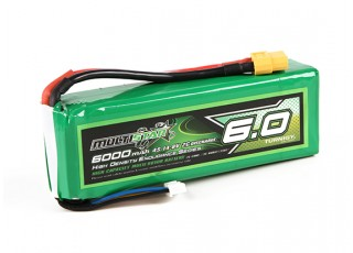 Multistar High Capacity Lightweight 6000mAh 4S 2C Multi-Rotor Lipo Pack
