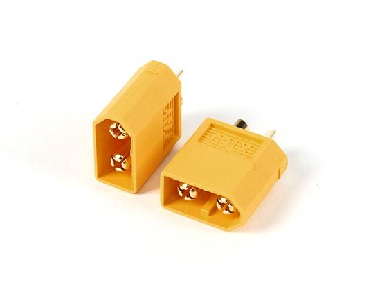 Conectores XT60 do sexo masculino (5pcs / bag) GENUÍNO