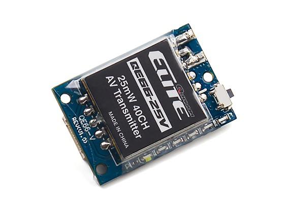 Quanum Elite QE66-25V 5.8GHz 25mW 40ch Wireless AV Transmitter (Vertical SMA Antenna) NTSC/PAL