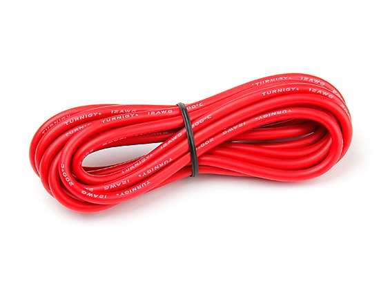 Turnigy High Quality 12AWG Silicone Wire 3m (Red)