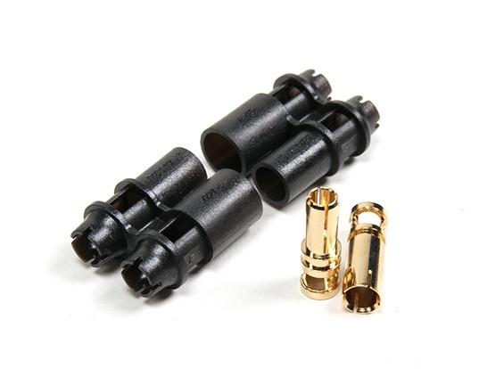 RCPROPLUS D4 Supra-X 4mm Connectors M/F (20 Sets)