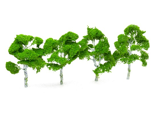HobbyKing™ 160mm Scenic Wire Model Trees (4 pcs)