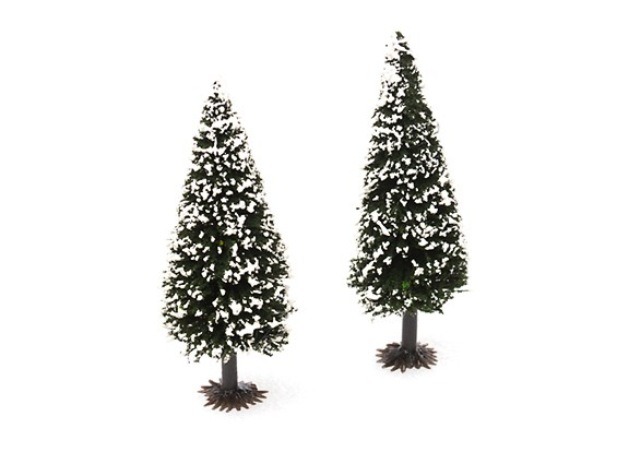 HobbyKing™ 90mm Scenic Model Fir Trees with Snow (2 pcs)