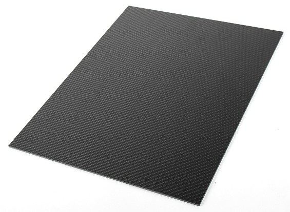 Carbon Fiber Sheet, 400 x 300 x 2mm