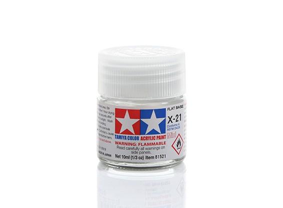 Tamiya X-21 Flat Base For Tamiya Gloss Paints (10ml)