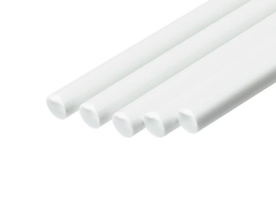 ABS Round Rod 4.0mm x 500mm White (Qty 5)