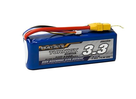 Turnigy Heavy Duty 3300mAh 4S 60C Lipo Pack w/XT-90