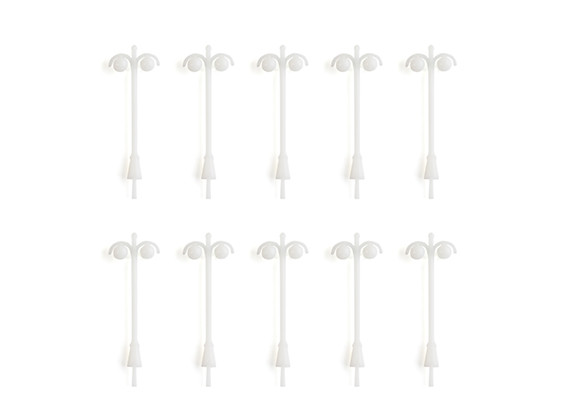 HO/OO Scale Double Non-Working Round Street Lamps 1/75 10pcs