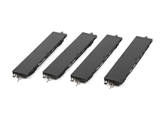 NX17K Flat Car (HO Scale - 4 Pack) Set of 4