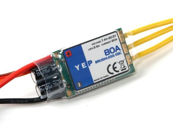 HobbyKing YEP 80A (2 6S ~) SBEC Brushless Speed Controller