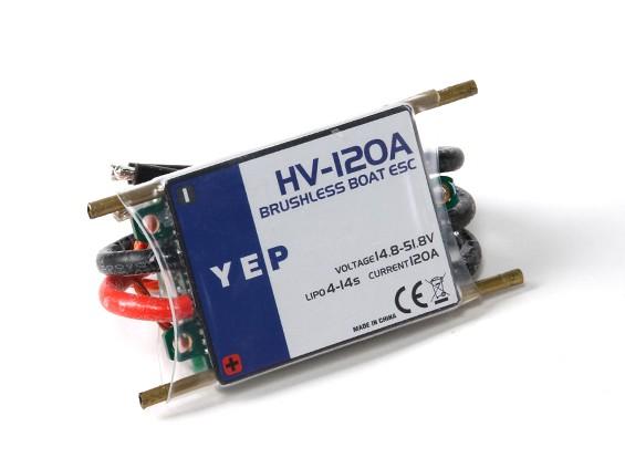 Hobbyking YEP 120A HV (4 14S ~) Marinha Brushless Speed Controller (Opto)