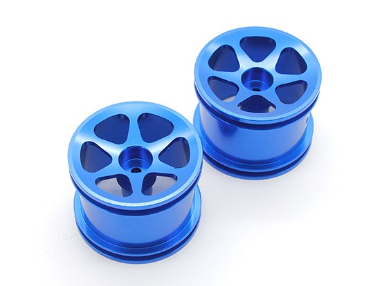 SCRATCH/DENT - GPM Racing Associated RC18T Alloy Std Sinkage Surface Rims (6 Poles) (Blue) (1pr)