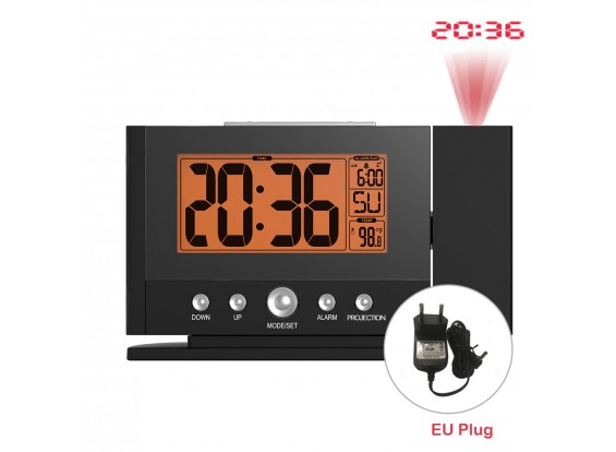 BLADR B0211STB LCD Projector Smart Alarm Clock with  Snooze Temperature