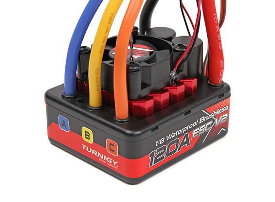 TrackStar 1 / 8th brushless sensorless 120A impermeável ESC V2