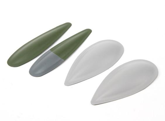 Durafly ™ Spitfire Mk5 ETO (verde / cinza) bolhas de canhão