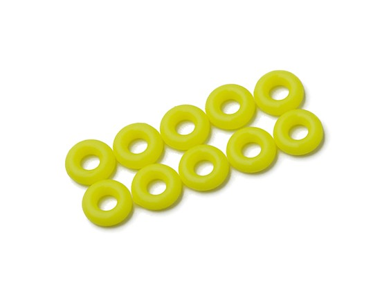O-ring Kit 3mm (Neon Amarelo) (10pcs / saco)