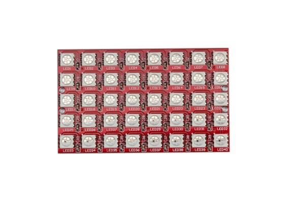 Keyes Wearable 2812 8x5 LED Full Color 5050 Módulo de LED RGB