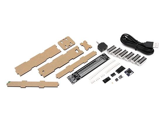 AS30 Binaural 30 Segmento LED DIY Kit Música Spectrum VU Meter
