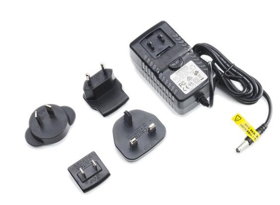Fonte de alimentação 12V 3A com intercambiáveis plug adaptadores (US. UE, Reino Unido, AU)
