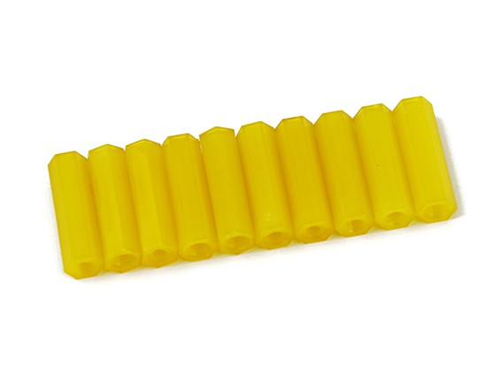 20 milímetros F / F M3 Spacer x10 - Amarelo