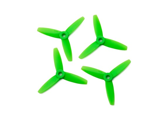 Gemfan Bullnose policarbonato 3035 3 Bladed Hélice Green (CW / CCW) (2 pares)