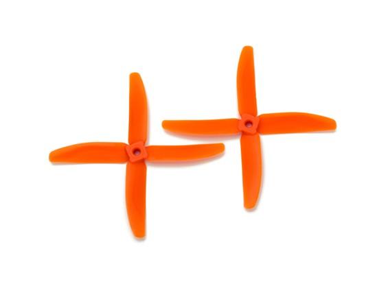 Gemfan Bullnose policarbonato 5040 4-Blade Hélices Orange (CW / CCW) (1 par)