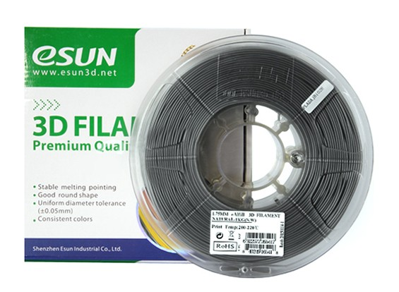 Filament Printer ESUN 3D 1,75 milímetros naturais EAL-fill 1KG Spool