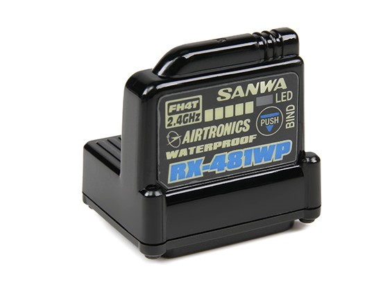 Sanwa RX-481WP 2.4GHz FH3 / FH4T Super Response Receptor de 4 canais com Built-in antena