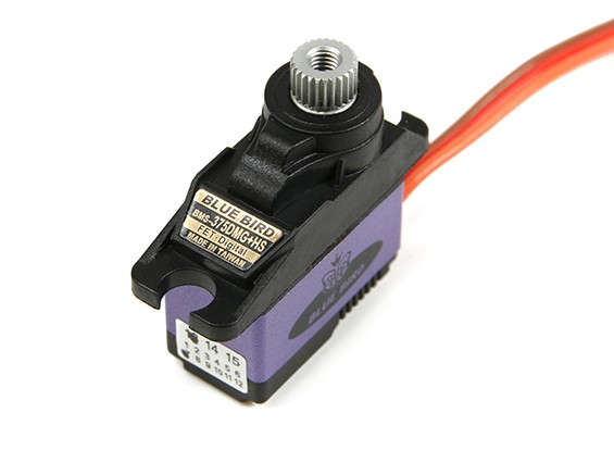 BMS-375DMG Metal gear Digital Servo w / dissipador de calor 2,3 kg / .11sec / 11,5 g