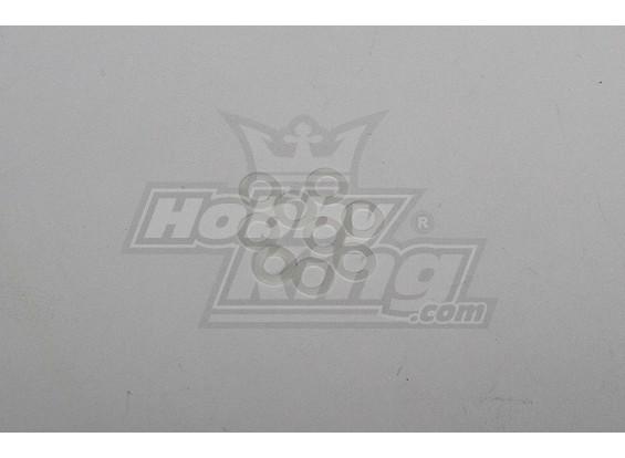 Alta qualidade Nylon Washer para todos helis 5x8x0.2mm (20pcs)