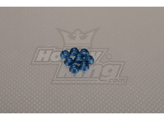 CNC Cap parafuso arruela M4 (4,5 milímetros) Dark Blue