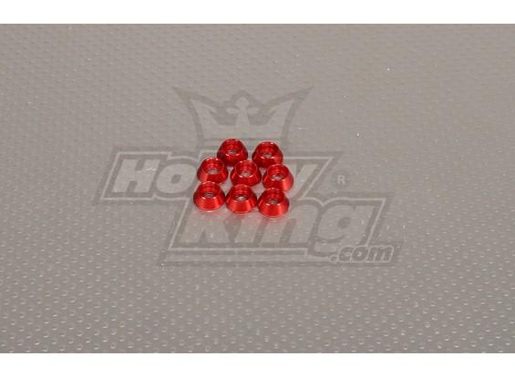 CNC Cap parafuso arruela M4 (4,5 milímetros) Vermelho