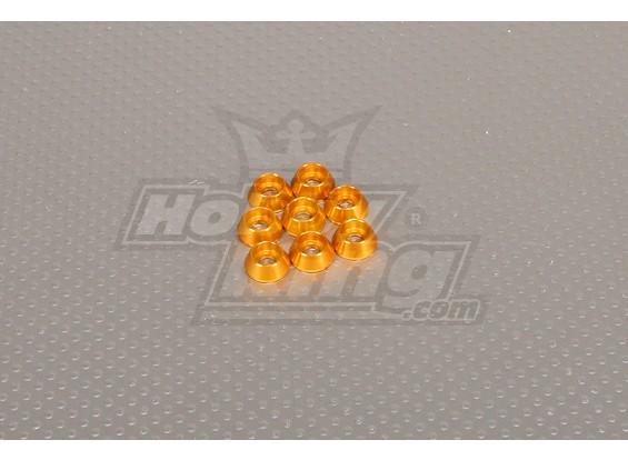 CNC Cap parafuso arruela M4 (4,5 milímetros) Gold