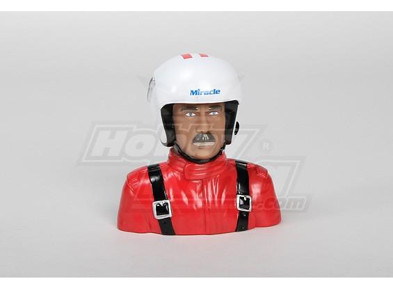 1/4 Pilot Model (vermelho) (H117 x W113 x D51mm)