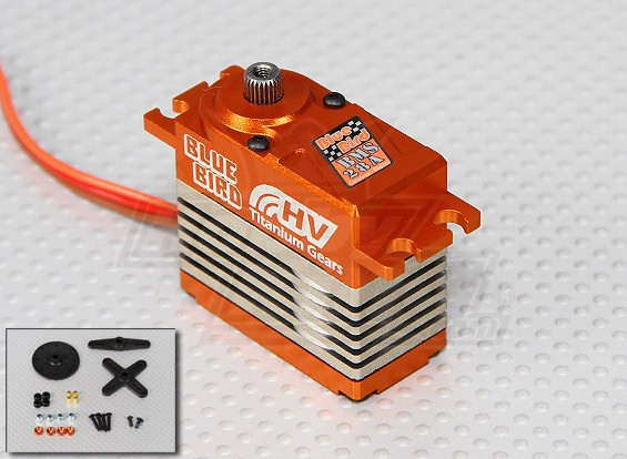 BMS-28A High Voltage (7.4V) Coreless Digital Servo w / liga de titânio da engrenagem 28 kg / 0.10sec / 74g