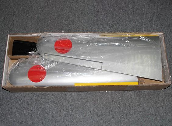 RISCO / DENT Kawasaki Ki-61 Hien 1.800 milímetros w / retrai e dividir bate 0,60 ~ 0,90 Brilho (ARF)