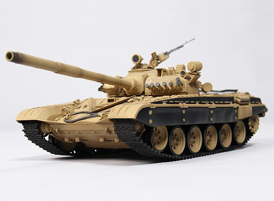 T-72M1 Batalha RC Tanque RTR w / Tx / Som / Infrared (deserto)