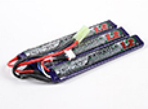 Turnigy nano-tecnologia 1200mAh 3S 15 ~ 25C Lipo AIRSOFT pacote