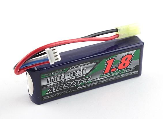 Turnigy nano-tecnologia 1800mAh 3S 20 ~ 40C Lipo AIRSOFT pacote