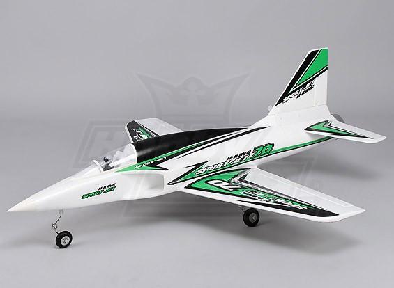 Hobbyking Desporto Jet 70 920 milímetros EDF w / Modo 1 TX-RX (RTF)