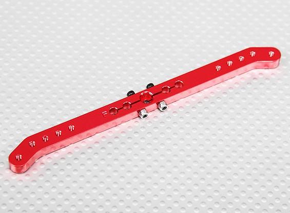 Pesado 5.1in Dever Alloy Pull-Pull Servo Arm - Futaba (vermelho)