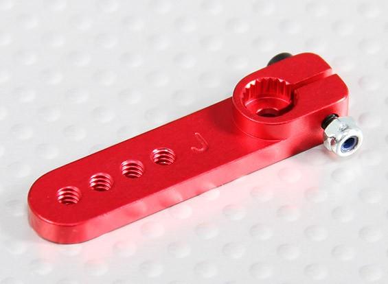 Heavy Duty Alloy 1in Servo Arm - JR (vermelho)